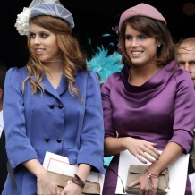 Princess Eugenie wears Monica Vinader Fiji Friendship bracelet in Turquoise to celebrate the Queen's Diamond Jubilee at St Paul's Cathedral in London.