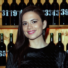 Hayley Atwell in Riva Diamond Cluster Earrings