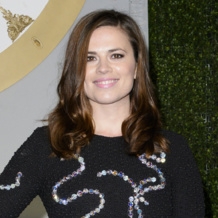 Hayley Atwell wears Monica Vinader Diva Circle Open Ring to the Cinderella premiere in London, March 2015.