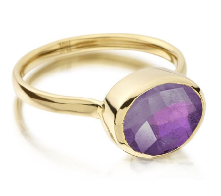 Gp Candy Ring - Amethyst - Monica Vinader
