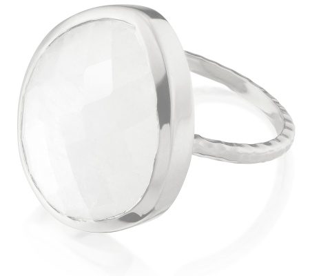 Nugget Ring Large- Moonstone - Monica Vinader