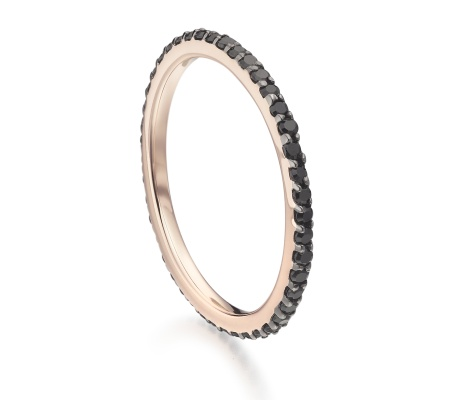 RP Eternity Band - Black Spinel - Monica Vinader
