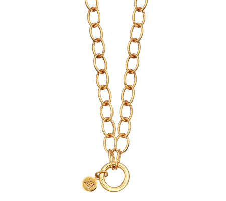 Gold Vermeil Lungo Chain Necklace 18 Inch - Monica Vinader