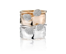 Rose Gold Vermeil Siren Diamond Wide Band Ring - Monica Vinader