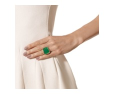 Gold Vermeil Baja Square Ring - Green Onyx - Monica Vinader
