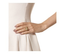 Gold Vermeil Riva Diamond Shore Double Ring - Monica Vinader