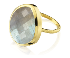Gp Nugget Ring Large- Labradorite - Monica Vinader