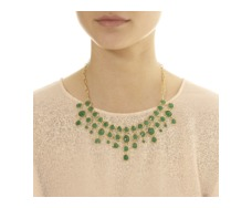 GP Siren Bib Necklace - Green Onyx - Monica Vinader