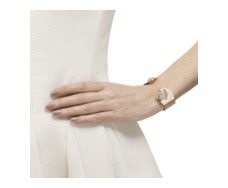 Rose Gold Vermeil Siren Cuff - Rose Quartz - Monica Vinader