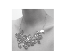Sterling Silver Lace Necklace - Monica Vinader