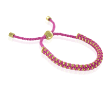 Gold Vermeil Rio Friendship Bracelet - Cerise- Love- - Monica Vinader