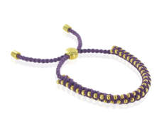 GP Rio Bracelet - Plum- Prosperity- Small - Monica Vinader