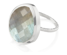 Nugget Ring Large- Labradorite - Monica Vinader