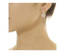 Ava Disc Drop Earrings - Diamond - Monica Vinader