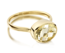 Gp Candy Ring - Green Gold Quartz - Monica Vinader