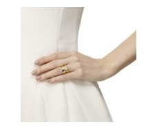 Gold Vermeil Siren Stacking Ring - Moonstone - Monica Vinader