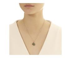 Rose Gold Vermeil Siren Bezel Pendant - Labradorite - Monica Vinader