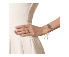 Rose Gold Vermeil Fiji Friendship Bracelet - Fluoro Yellow - Monica Vinader