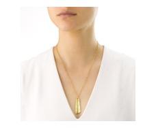 Gold Vermeil Riva Large Plain Ingot Pendant - Monica Vinader