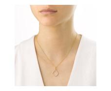 Gold Vermeil Riva Diamond Hoop Pendant - Monica Vinader