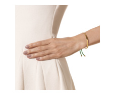Gold Vermeil Fiji Friendship Bracelet - Green - Monica Vinader