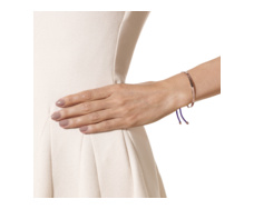 Rose Gold Vermeil Fiji Friendship Bracelet- Plum- Prosperity - Monica Vinader