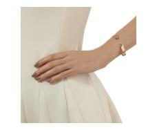 Rose Gold Vermeil Siren Thin Cuff - Labradorite - Monica Vinader