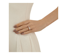 Rose Gold Vermeil Baja Ring - White Agate - Monica Vinader