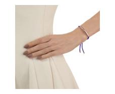 Rose Gold Vermeil Esencia Friendship Bracelet - Amethyst - Plum - Monica Vinader