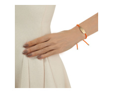 Gold Vermeil Bali Friendship Bracelet - Orange Fluoro - Monica Vinader
