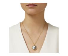 Gold Vermeil Atlantis Eye Pendant - Dendritic Agate - Monica Vinader