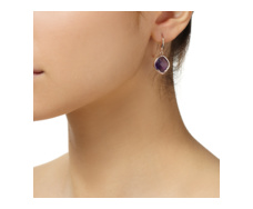 Rose Gold Vermeil Riva Amethyst Wire Earrings - Monica Vinader