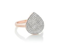 Rose Gold Vermeil Alma Ring - Diamond - Monica Vinader