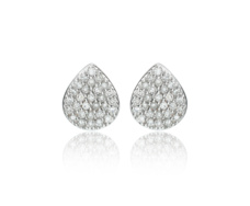 Rose Gold Vermeil Alma Stud Earrings - Diamond