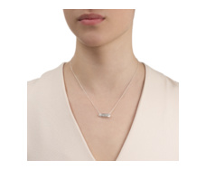 Baja Mini Necklace - Diamond - Monica Vinader