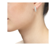 Baja Long Stud Earrings - Diamond - Monica Vinader