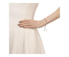 Rose Gold Vermeil Esencia Friendship Bracelet - White Topaz - Silver Metallica - Monica Vinader