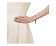 Rose Gold Vermeil Esencia Friendship Bracelet - Chrome Diopdside -Green - Monica Vinader
