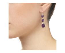 Siren Wire Cocktail Earrings - Amethyst - Monica Vinader