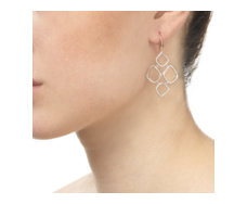 Rose Gold Vermeil Riva Diamond Cluster Drop Earrings - Monica Vinader