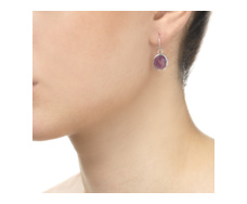 Siren Wire Earrings - Amethyst - Monica Vinader