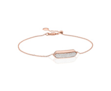 Rose Gold Vermeil Baja Mini Bracelet - Diamond - Monica Vinader