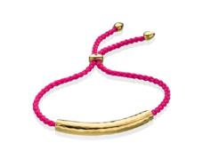 Gold Vermeil Esencia Friendship Bracelet - Pink Tourmaline - Cerise - Monica Vinader