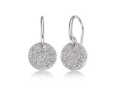 Ava Diamond Disc Earrings - Monica Vinader