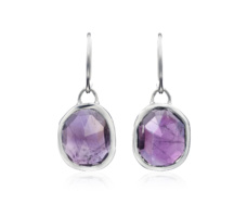 Siren Wire Earrings - Amethyst - Monica Vinader