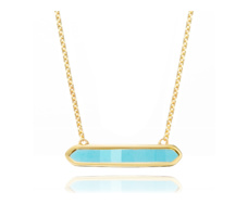 Gold Vermeil Baja Necklace - Turquoise - Monica Vinader