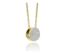 Gold Vermeil Ava Button Necklace - Diamond - Monica Vinader