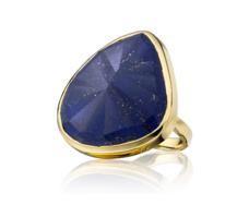 Gold Vermeil Siren Cocktail Ring - Lapis - Monica Vinader