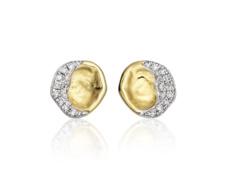 Gold Vermeil Riva Diamond Shore Stud Earing - Monica Vinader