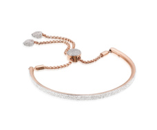 18ct Rose Gold Vermeil Fiji Full Diamond Bracelet - Monica Vinader